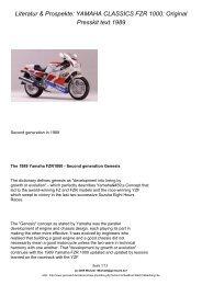 YAMAHA CLASSICS FZR 1000: Original Presskit ... - GENESIS Board