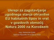 Ukrepi za zagotavljanje ugodnega stanja ohranitve ... - Natura 2000