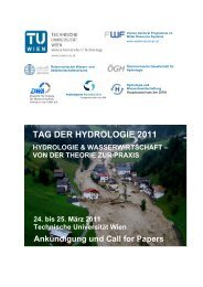 Call for papers - Tag der Hydrologie 2011 - Technische Universität ...
