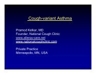 cough-variant asthma - Kelkar - World Allergy Organization