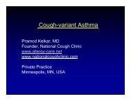 cough-variant asthma - Kelkar - World Allergy Organization