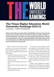 The Times Higher Education World University Rankings 2012-13 - Vis