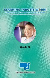 Grade 5 - Milwaukee Public Schools