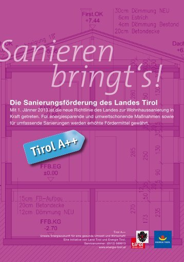 Die Sanierungsförderung des Landes Tirol - Energie Tirol