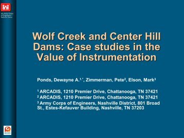 Wolf Creek and Center Hill Dams: Case studies in the Value of ...