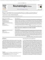 Tobacco and Other Environmental Risk Factors in Rheumatoid Arthritis