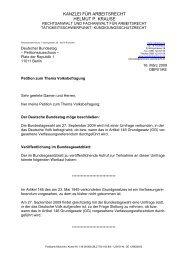 Petition Volksbefragung Verfassungsreferendum