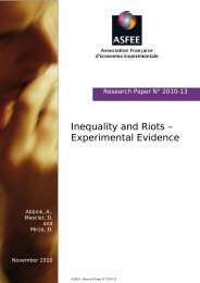 Inequality and Riots – Experimental Evidence - ASsociation ...
