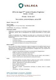 Offre de stage 5ème année d'études d'ingénieur Durée : 6 ... - OVH.net