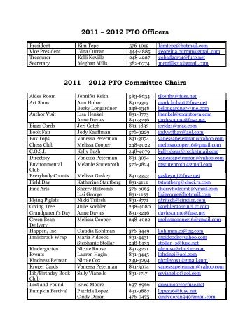 board and committee chairs - Mariemont City Schools