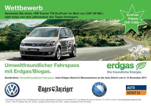 Wettbewerb Auto Zürich 2011 - Erdgasfahren