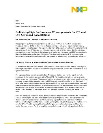 Optimizing High Performance RF components for LTE and LTE ...