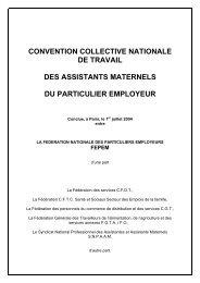 Convention collective nationale de travail des assistants ... - Parent