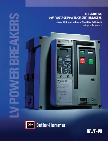 magnum ds low voltage power circuit breakers - of downloads