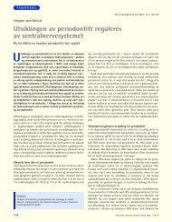 Utviklingen av periodontitt reguleres av sentralnervesystemet
