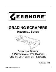 GRADING SCRAPERS - Gearmore, Inc.