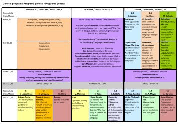 Programa general - Universitat de Barcelona