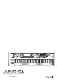 JUNO-Gi Sound List (PDF) - Roland