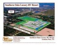 Southern Oaks Luxury RV Resort Aransas Pass, TX - Haynes Realty