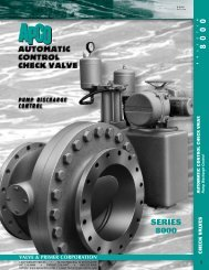 Automatic Control Check Valves - Summit Valve and Controls