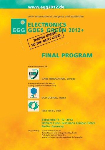 Session Program - EGG 2012
