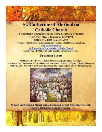 Military Ministry - St. Catherine of Alexandria Temecula