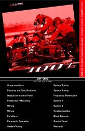 CONTENTS Congratulations System Tuning ... - Precision Power