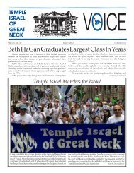 June 7 - Temple Israel of Great Neck