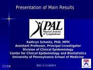 (PAL) Study - Abramson Cancer Center
