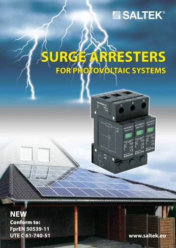 Surge Arresters for PV Systems