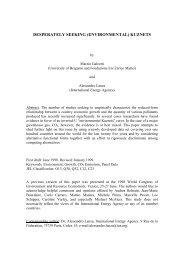 desperately seeking (environmental) kuznets - Fondazione Eni ...