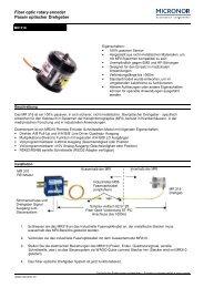 Fiber optic rotary encoder Passiv optischer ... - MICRONOR Ag