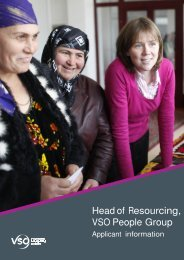 Head of Resourcing pack - VSO