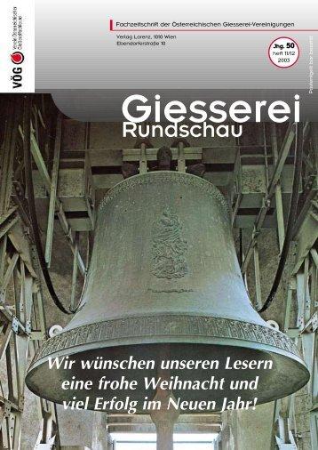 rdert die Gießerei - VÖG - Verein österreichischer Gießereifachleute