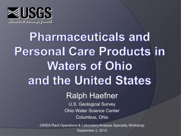 Pharmaceuticals, hormones, and other wastewater contaminants in ...