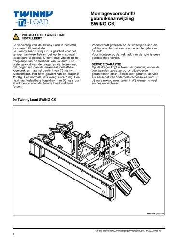 Montagevoorschrift/ gebruiksaanwijzing SWING CK - voor de fiets