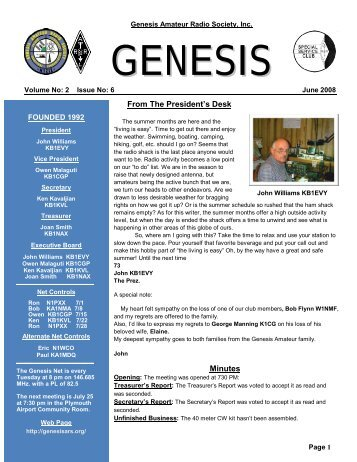 2008 - Genesis Amateur Radio Society
