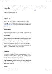 Mifepriston und Misoprostol in Österreich - Abtreibung
