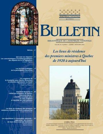 Les lieux de résidence des premiers ministres à Québec de 1920 à ...