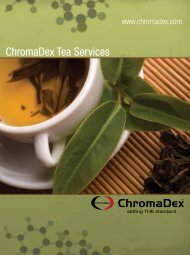 ChromaDex Tea Services