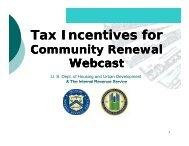 EZ Tax Incentives Webcast PowerPoint Slides - HUD