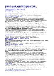 GUIDA ALLE VISURE NOMINATIVE - Network Uffici Provinciali ACI