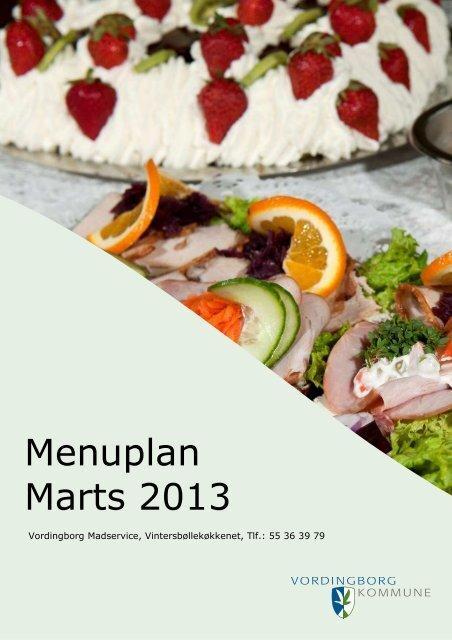 Menuplan marts 2013 - pdf