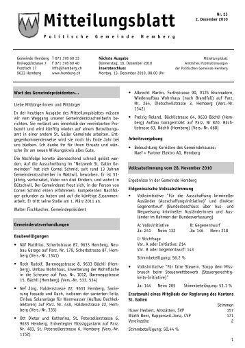 Mitteilungsblatt Nr. 23 - 02.12.2010 [PDF, 517 KB - Gemeinde ...