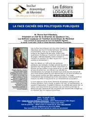 La face cachée des politiques publiques - IEDM