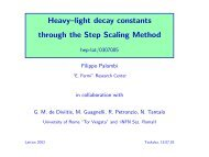 Heavy–light decay constants through the Step Scaling Method