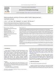(Vahl) (Apocynaceae) root bark extract - Ahmadu Bello University