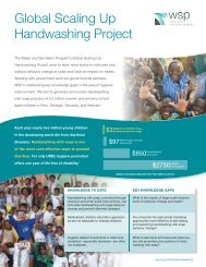 Brochure: Global Scaling Up Handwashing Project - WSP