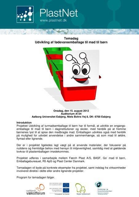 Temadag Udvikling af fødevareemballage til mad til børn - PlastNet