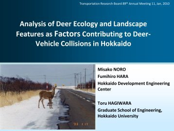 Analysis of Deer Ecology and Landscape Features as Factors ...